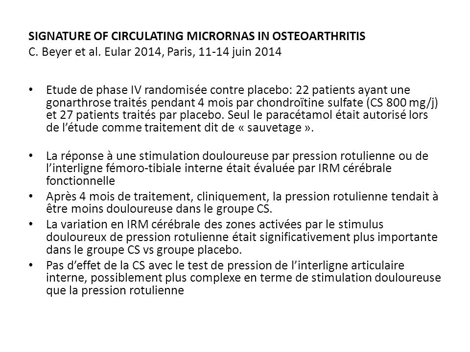 SIGNATURE OF CIRCULATING MICRORNAS IN OSTEOARTHRITIS C.