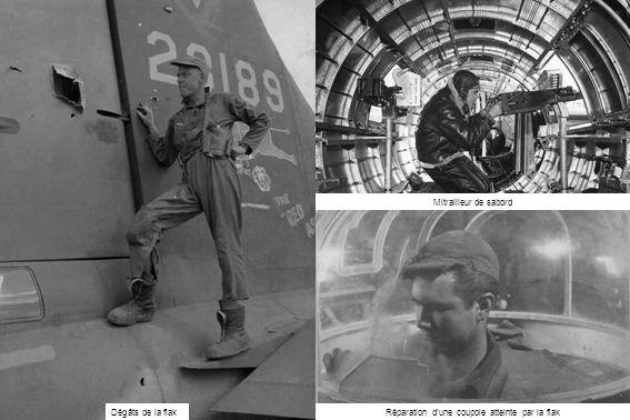 Mitrailleur de sabord Réparation d'une coupole atteinte par la flakDégâts de la flak