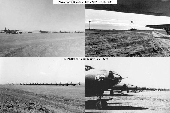 Biskra, le 23 décembre 1942 – B-26 du 319th BG Montesquieu – B-26 du 320th BG – 1943