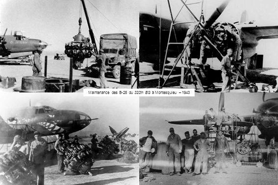 Maintenance des B-26 du 320th BG à Montesquieu – 1943