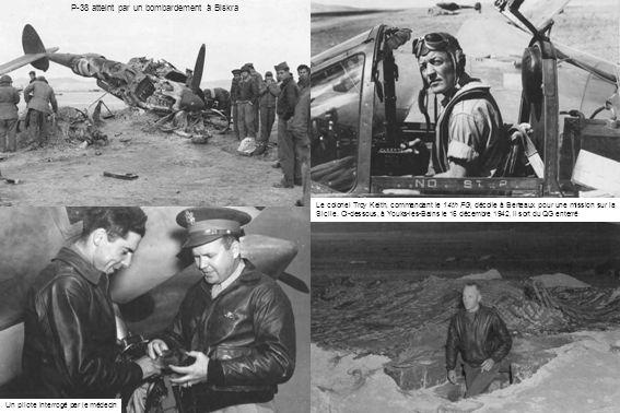 Le colonel Troy Keith, commandant le 14th FG, décolle à Berteaux pour une mission sur la Sicile.