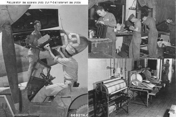 Récupération des appareils photo d'un F-5 et traitement des photos