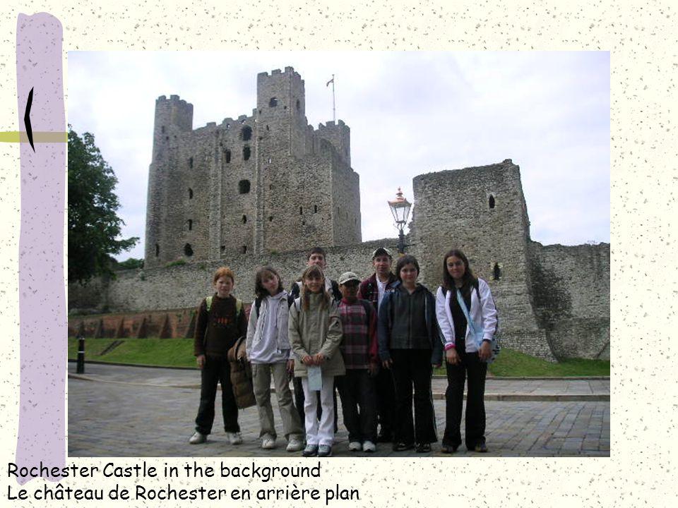 Rochester Castle in the background Le château de Rochester en arrière plan