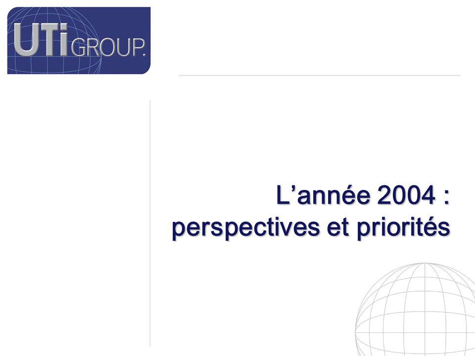 23 L'année 2004 : perspectives et priorités