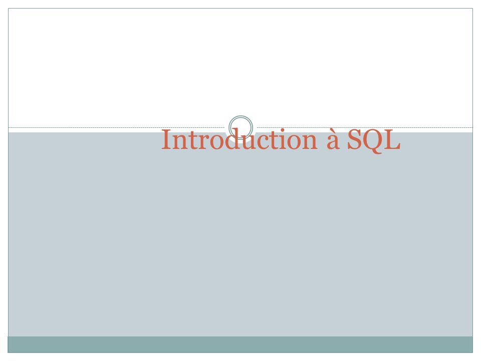 Introduction à SQL