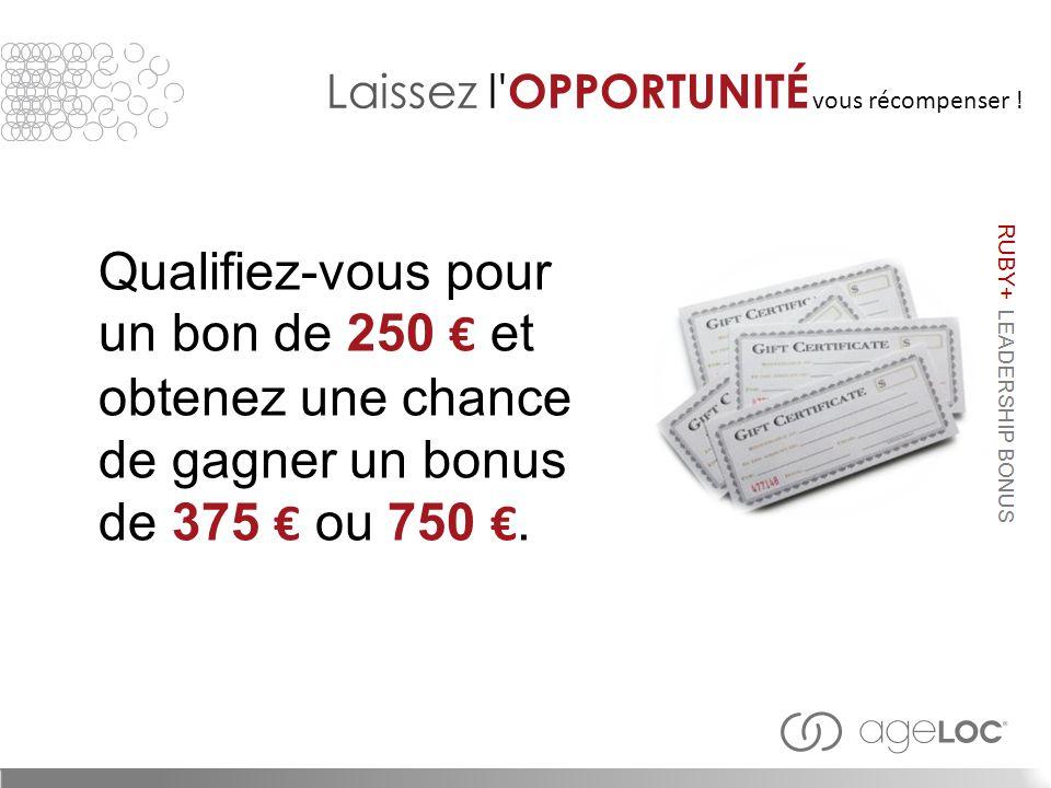 Qualifiez-vous pour un bon de 250 € et obtenez une chance de gagner un bonus de 375 € ou 750 €.