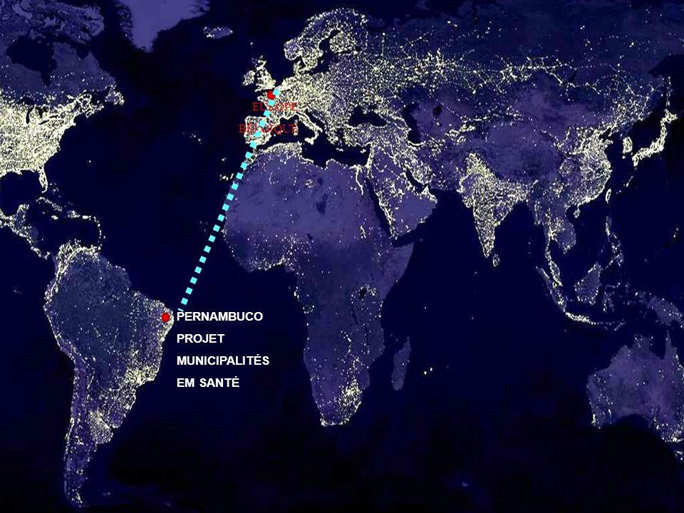 BRÉSIL: 8.514.876,6 KM² PERNAMBUCO: 98.311,6 KM² (1,2% DA ÁREA DO BRASIL) POPULATION(2005) BRÉSIL TOTAL: 184 MILHÕES HAB POPULATION(2005) PERNAMBUCO TOTAL: 8,4 MILHÕES HAB (4,7% DE LA POPULATION DU BRÉSIL) IDH(2000) BRASIL: 0,766 IDH(2000) PERNAMBUCO: 0,705 PIB(2003) BRASIL: US$ 431,8 BILHÕES PIB(2003) PERNAMBUCO: US$ 13,8 BILHÕES (2,96% DO PIB DO BRASIL)