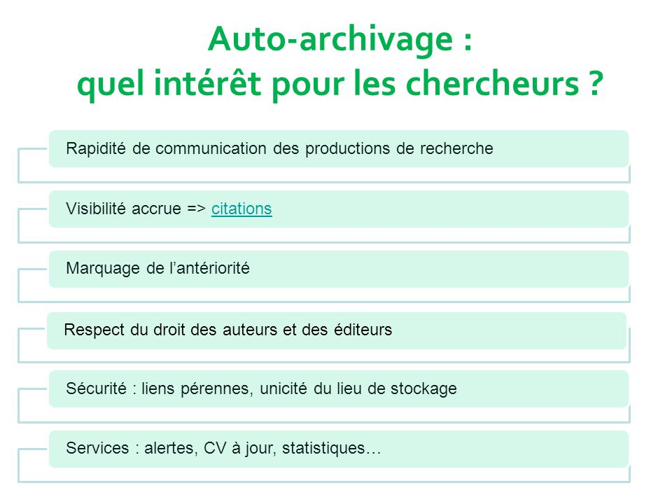 VERS L'OPEN SCIENCE .