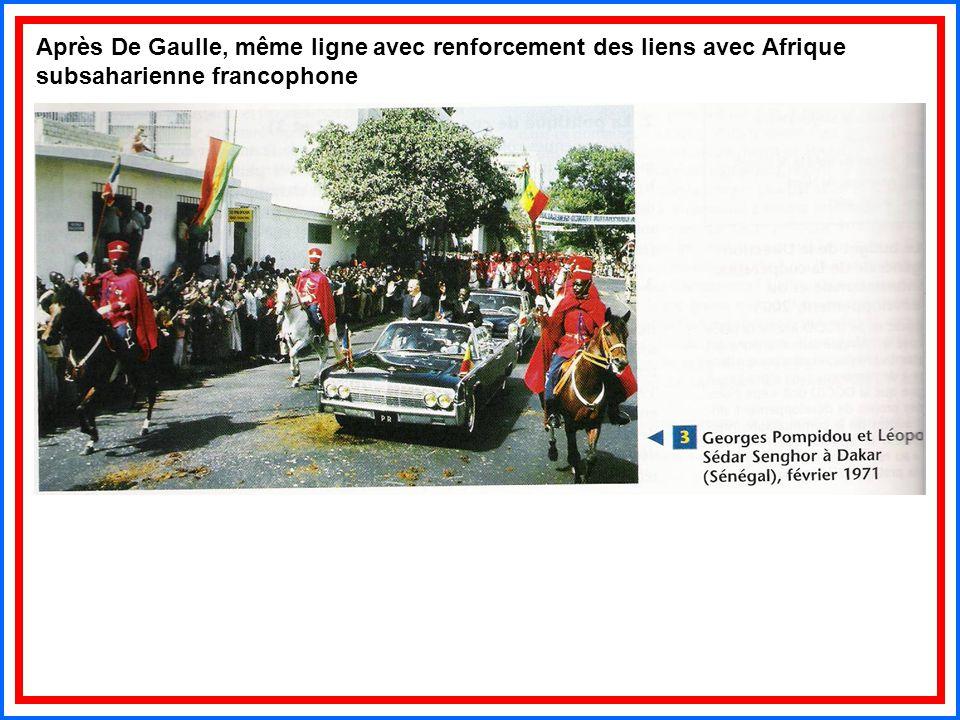 Après De Gaulle, même ligne avec renforcement des liens avec Afrique subsaharienne francophone