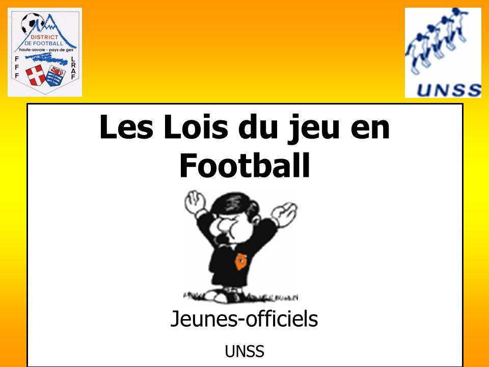 Les Lois du jeu en Football Jeunes-officiels UNSS