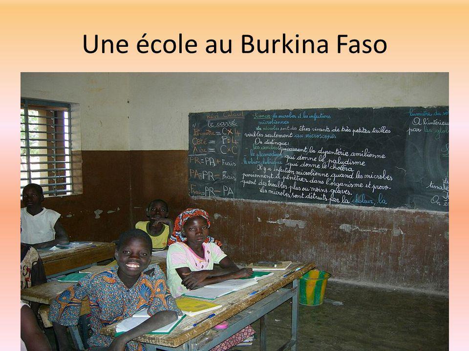Une école au Burkina Faso