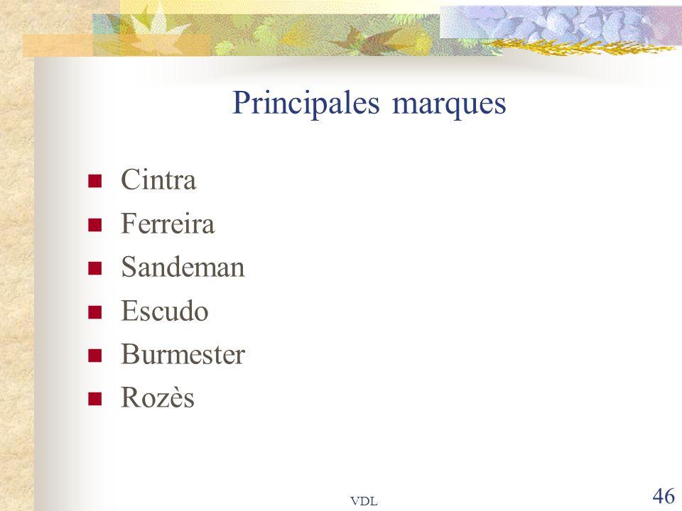 VDL 46 Principales marques Cintra Ferreira Sandeman Escudo Burmester Rozès