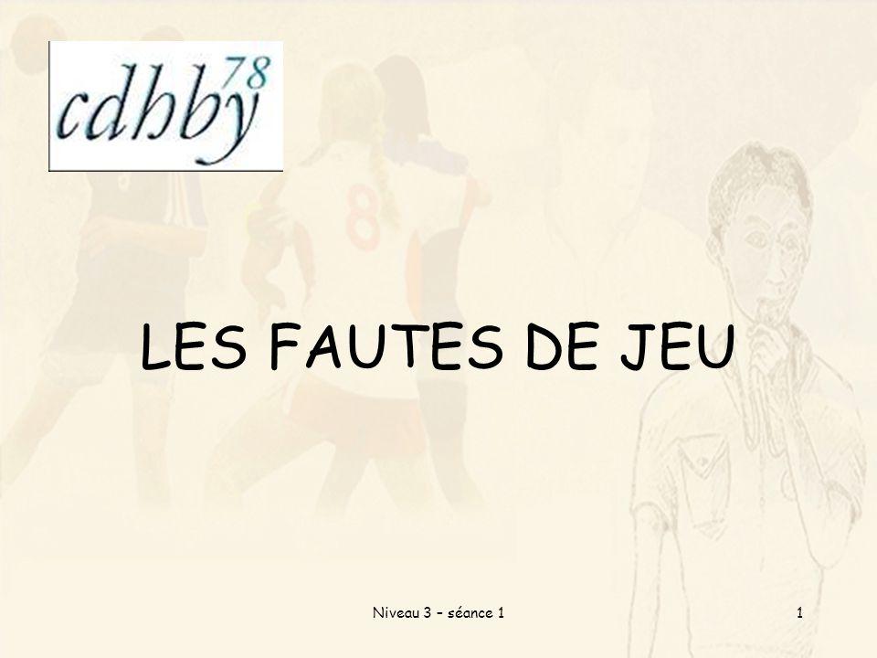 LES FAUTES DE JEU Niveau 3 – séance 11