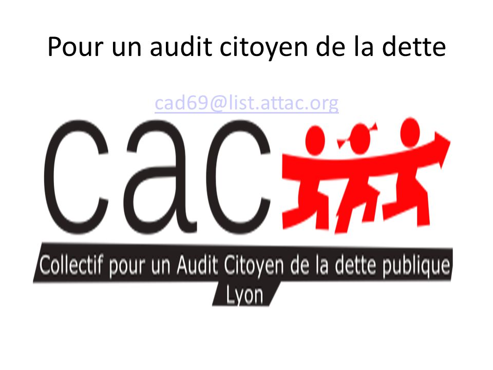 Pour un audit citoyen de la dette