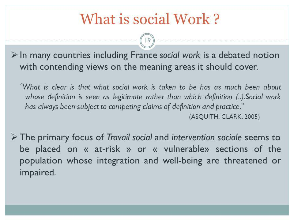 What is social Work .
