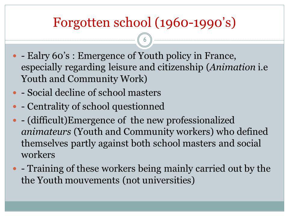 Cross-sectoral work 17.