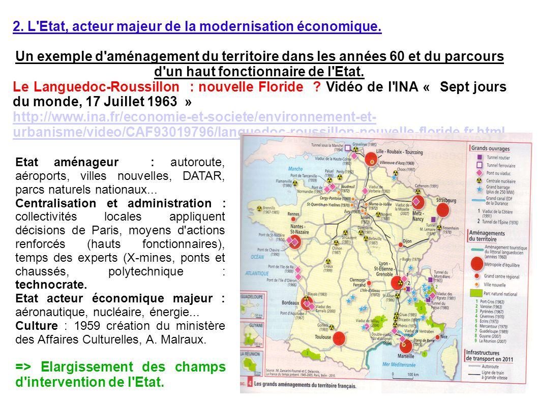 2. L'Etat, acteur majeur de la modernisation économique. Un exemple d'aménagement du territoire dans les années 60 et du parcours d'un haut fonctionna