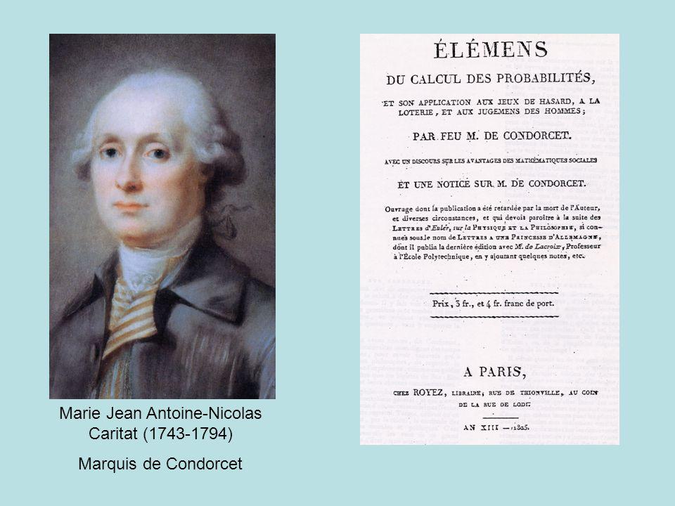 Marie Jean Antoine-Nicolas Caritat (1743-1794) Marquis de Condorcet