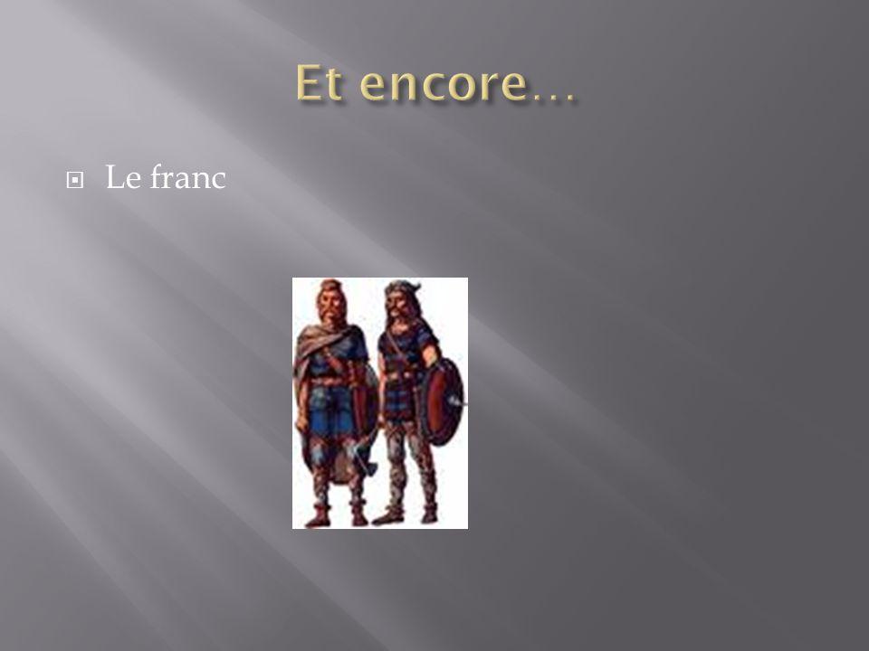  Le franc