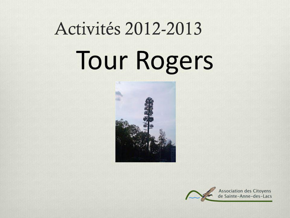 Activités 2012-2013 Tour Rogers