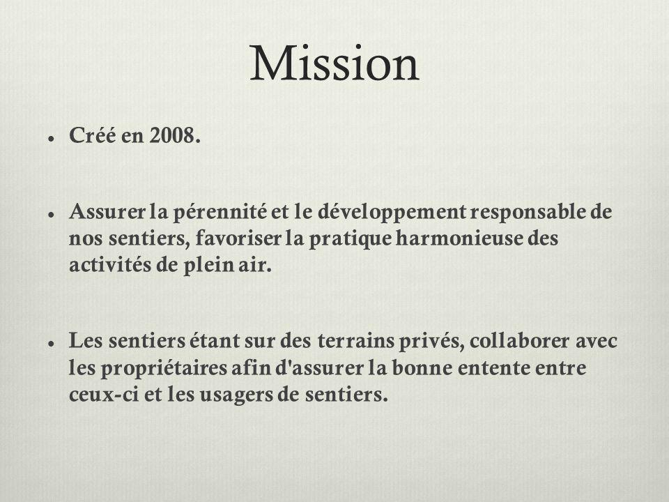 Mission Créé en 2008.