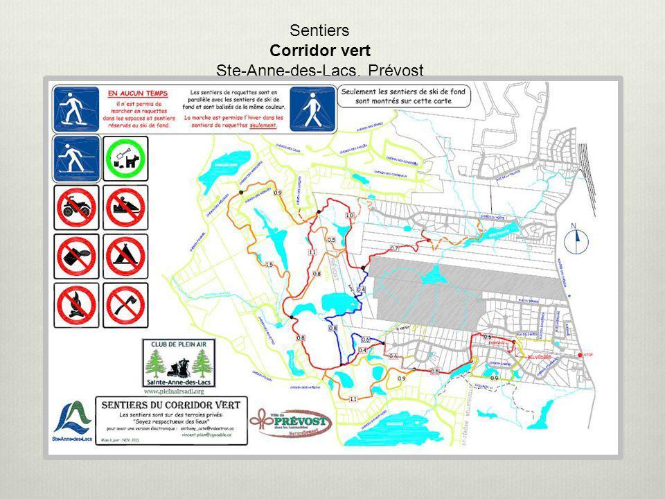 Sentiers Corridor vert Ste-Anne-des-Lacs, Prévost