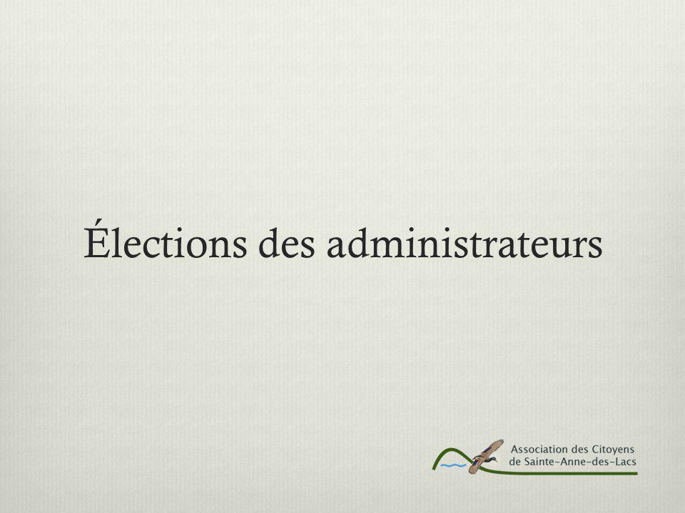 Élections des administrateurs