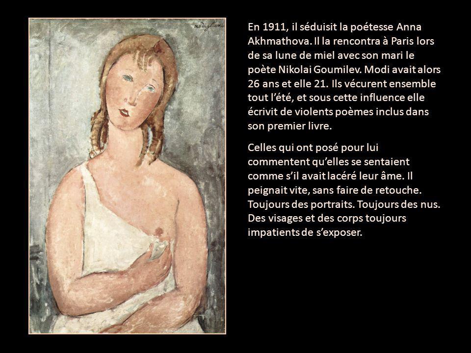 Portrait of Anna Akhmatova Béatrice Hastings, journaliste et écrivaine américaine, relate dans le magasine