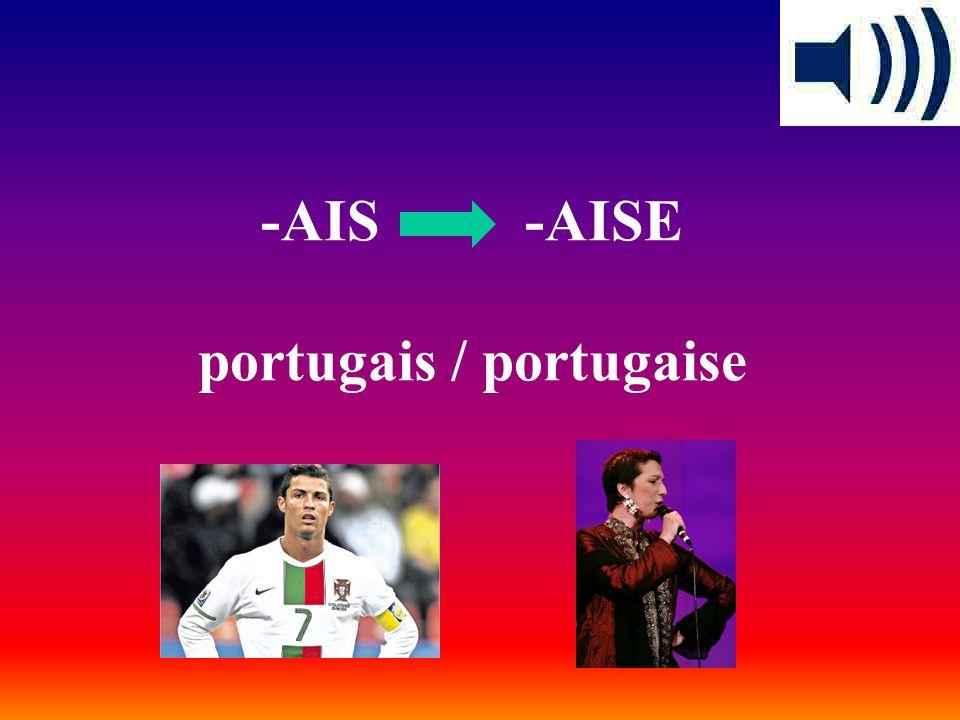 -AIS -AISE portugais / portugaise