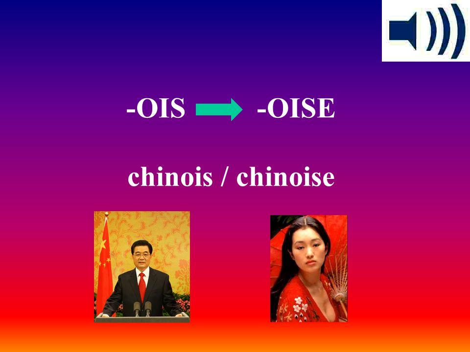 -OIS -OISE chinois / chinoise