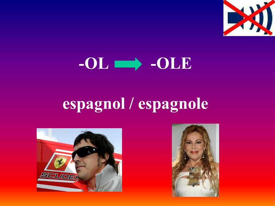 -OL -OLE espagnol / espagnole