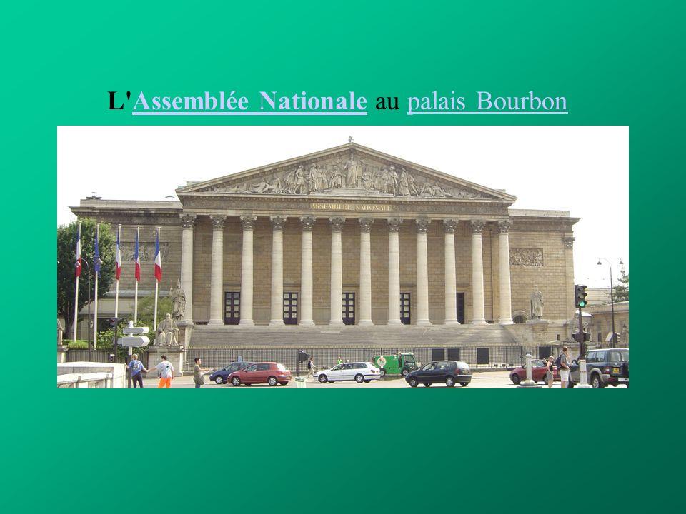 L'Assemblée Nationale au palais BourbonAssemblée Nationalepalais Bourbon