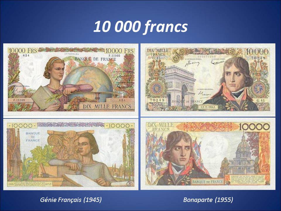 10 000 francs Génie Français (1945)Bonaparte (1955)