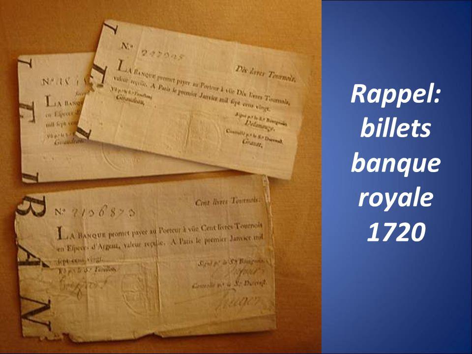 Rappel: billets banque royale 1720