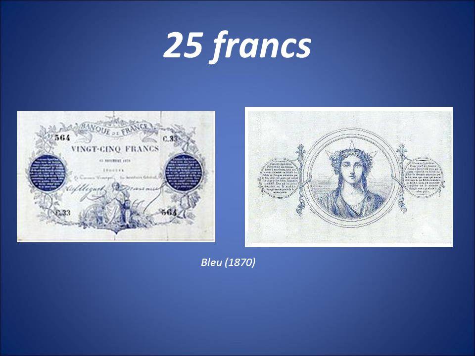 1000 francs Germinal (1800) Type 1817 Noir (1842) Bleu (1862) Bleu et rose (1889)