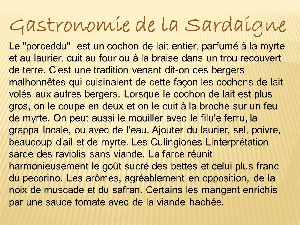 Gastronomie de la Sardaigne Le