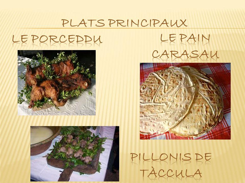 PLATS PRINCIPAUX