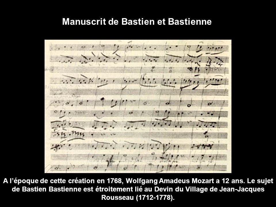 Mozart est un enfant prodige qui, dès son plus jeune âge, se produit dans les plus importantes cours d'Europe. La composition de son premier opéra La