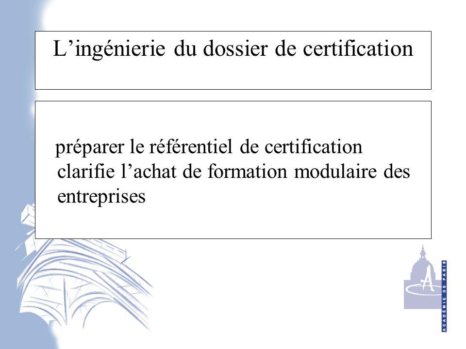 L'ingénierie du dossier de certification préparer le référentiel de certification clarifie l'achat de formation modulaire des entreprises