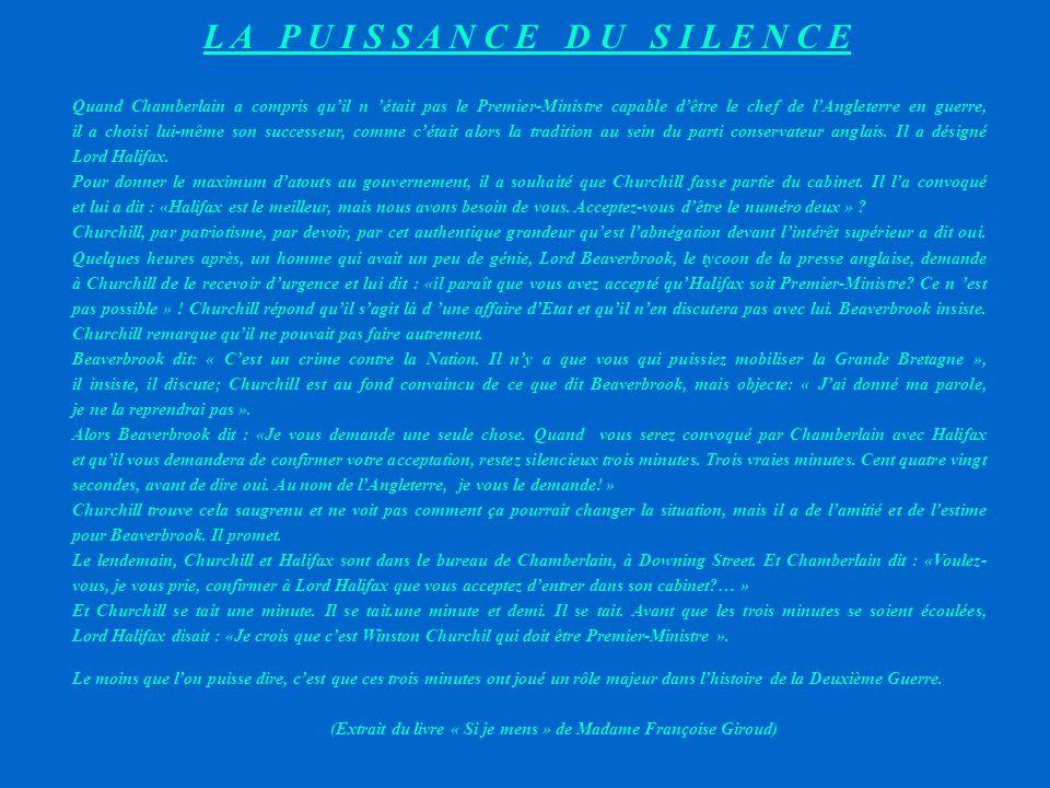 Trois minutes de silence ont joué un rôle majeur dans l'histoire de la Grande Bretagne et celle de la deuxième guerre mondiale LA PUISSANCE DU SILENCE