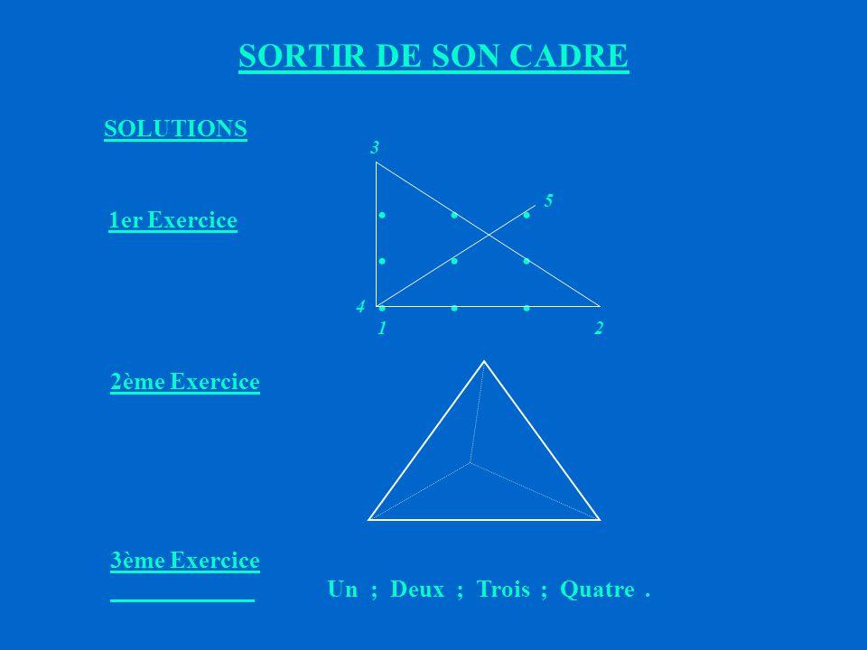 SORTIR DE SON CADRE EXERCICES 1.