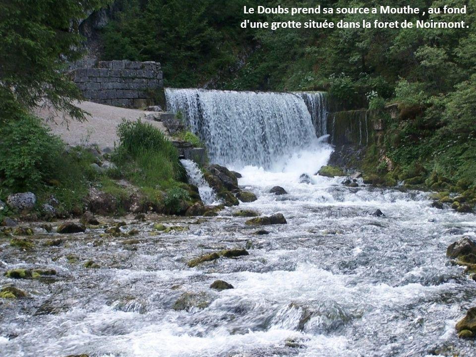 Le Doubs est une rivière française et suisse, sous-affluent du Rhône par la Saône. D'une longueur totale de 453 km, dont 430 km sur le territoire fran