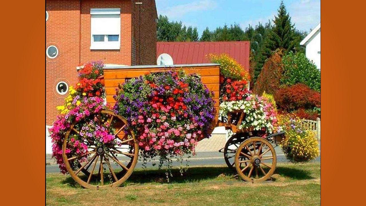 Parmi les objets par ses aïeuls utilisés, Les charrettes ont emporté un franc succès.