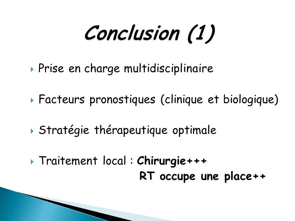  Prise en charge multidisciplinaire  Facteurs pronostiques (clinique et biologique)  Stratégie thérapeutique optimale  Traitement local : Chirurgi