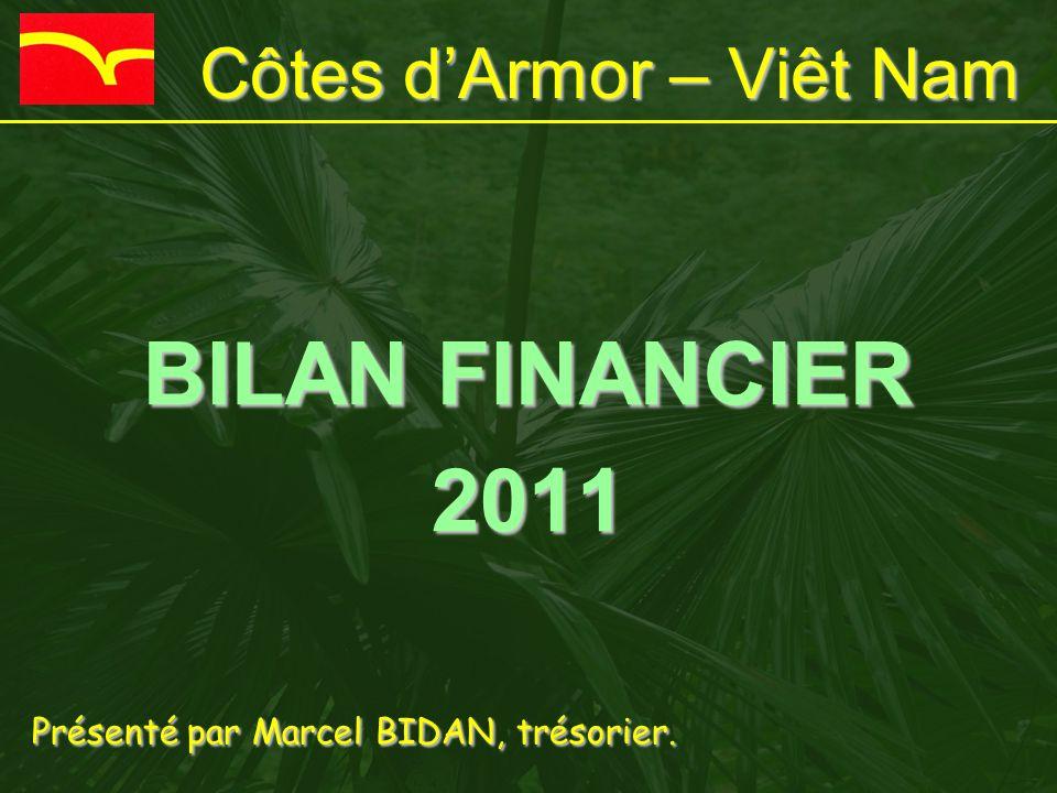 Côtes d'Armor – Viêt Nam BILAN FINANCIER 2011 I.Comptabilité générale II.Comptabilité analytique III.Trésorerie au 31/12/2011