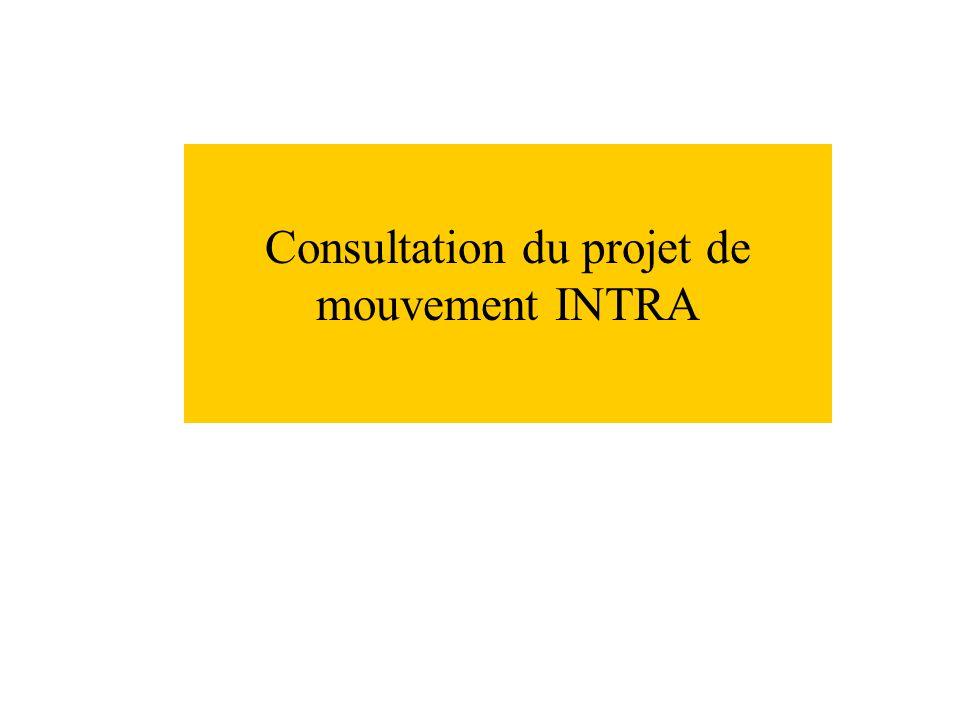 Consultation du projet de mouvement INTRA