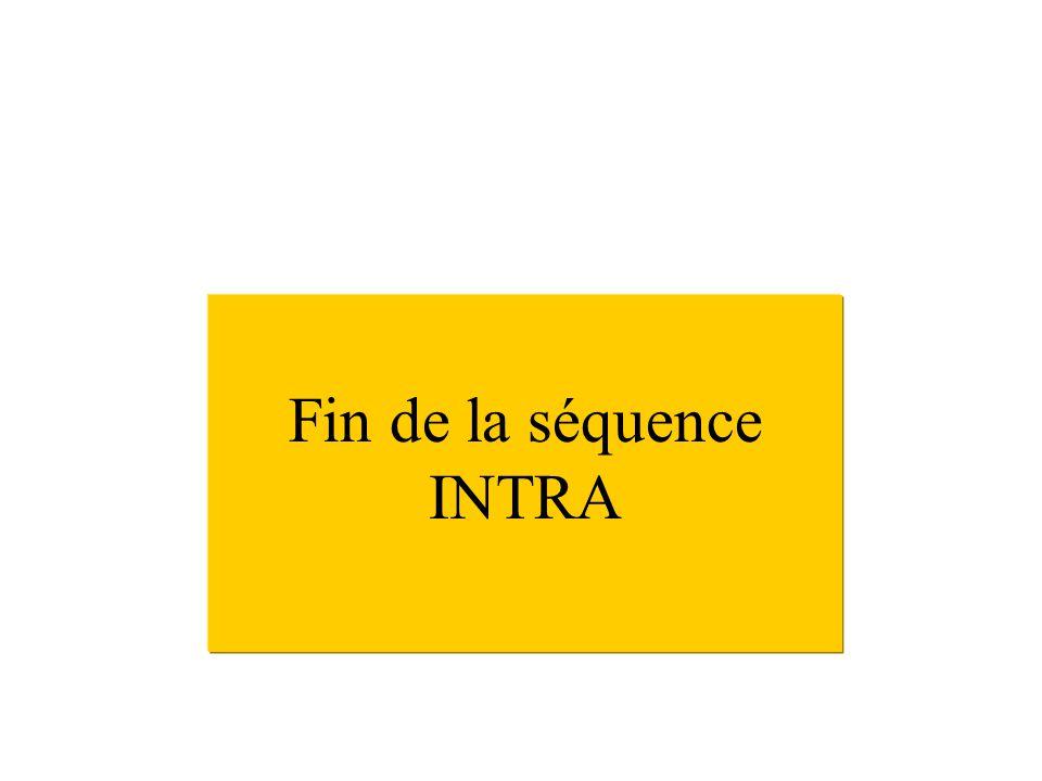 Fin de la séquence INTRA