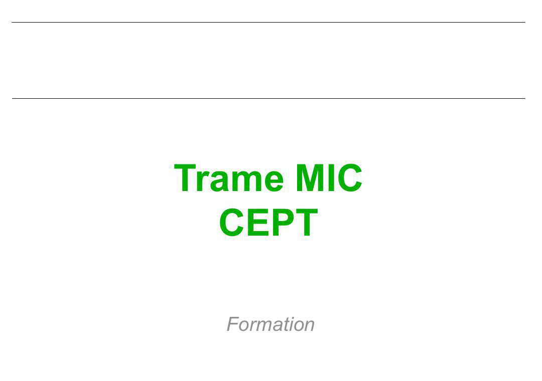 Trame MIC CEPT Formation