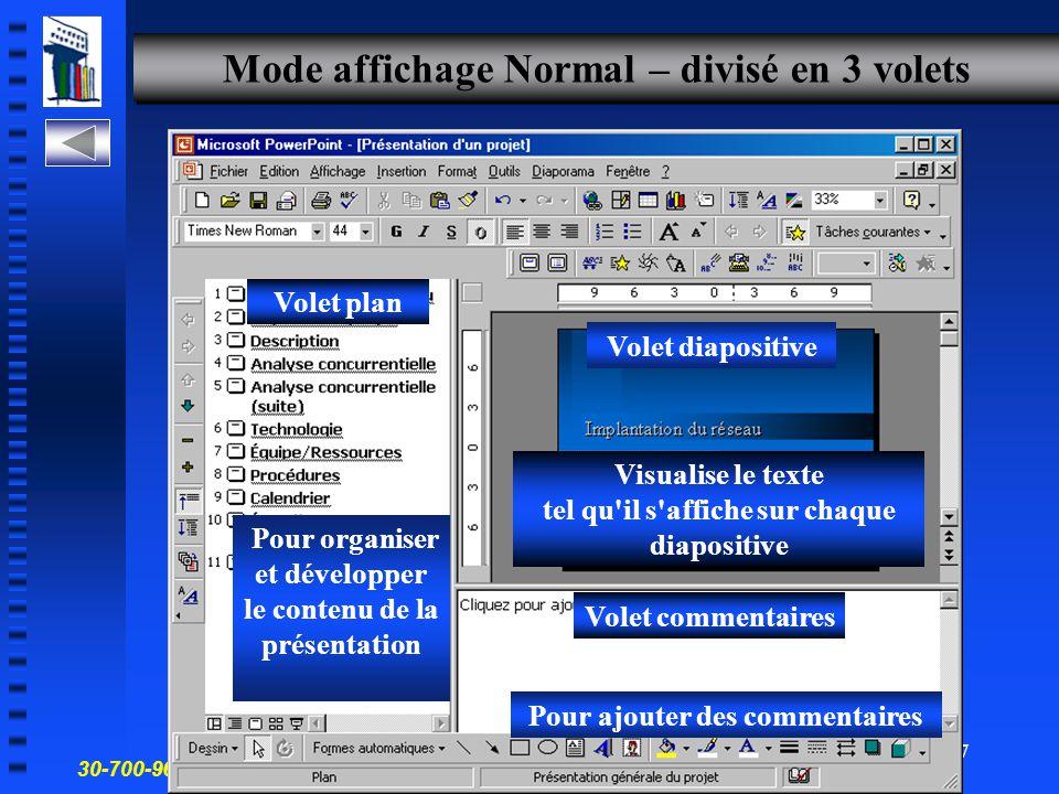 30-700-96 Introduction à l'informatique en gestion 16 Modes d affichage