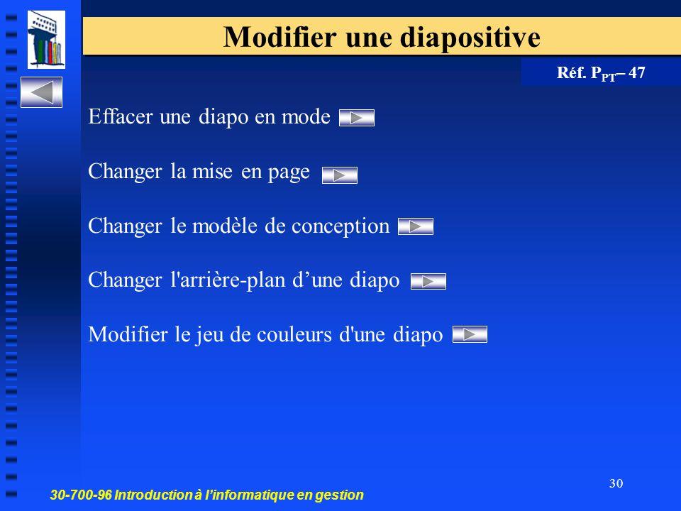 30-700-96 Introduction à l'informatique en gestion 29 Image animée